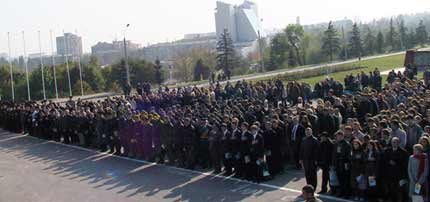 1100 новобранцев присягают УРК